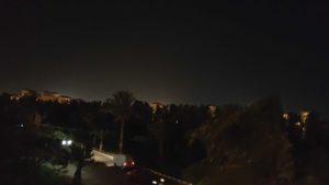 Вид с балкона вечером