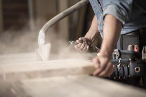 замер древесной пыли